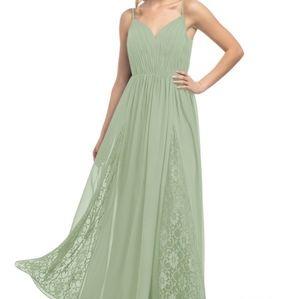 Azazie Dresses - Azazie Daisy Dusty Sage Dress